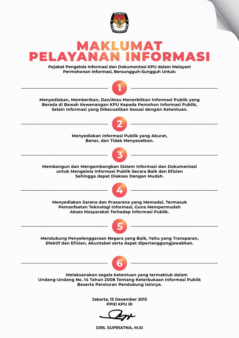 Maklumat Pelayanan Informasi